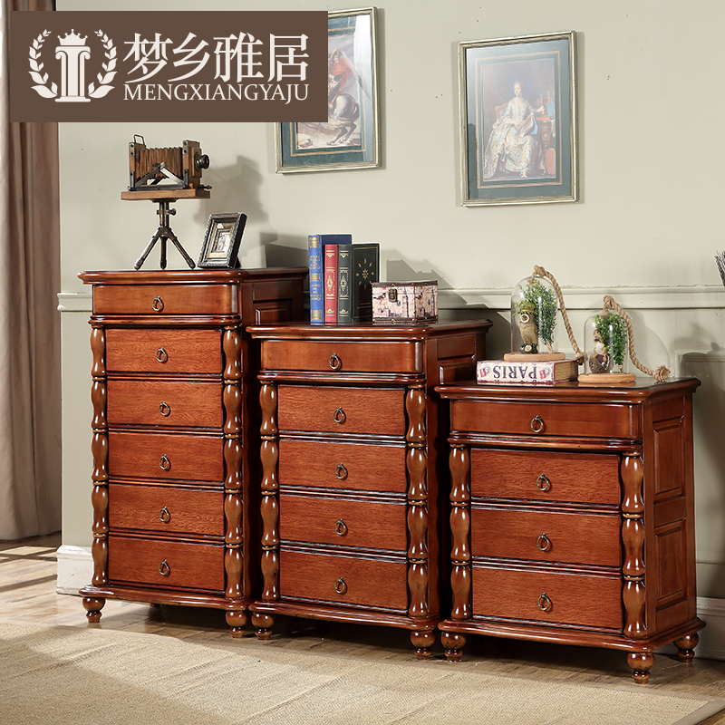 American country all solid wood four doo doo cabinet chest of drawers european living room bedroom drawer storage cabinets lockers storage cabinets