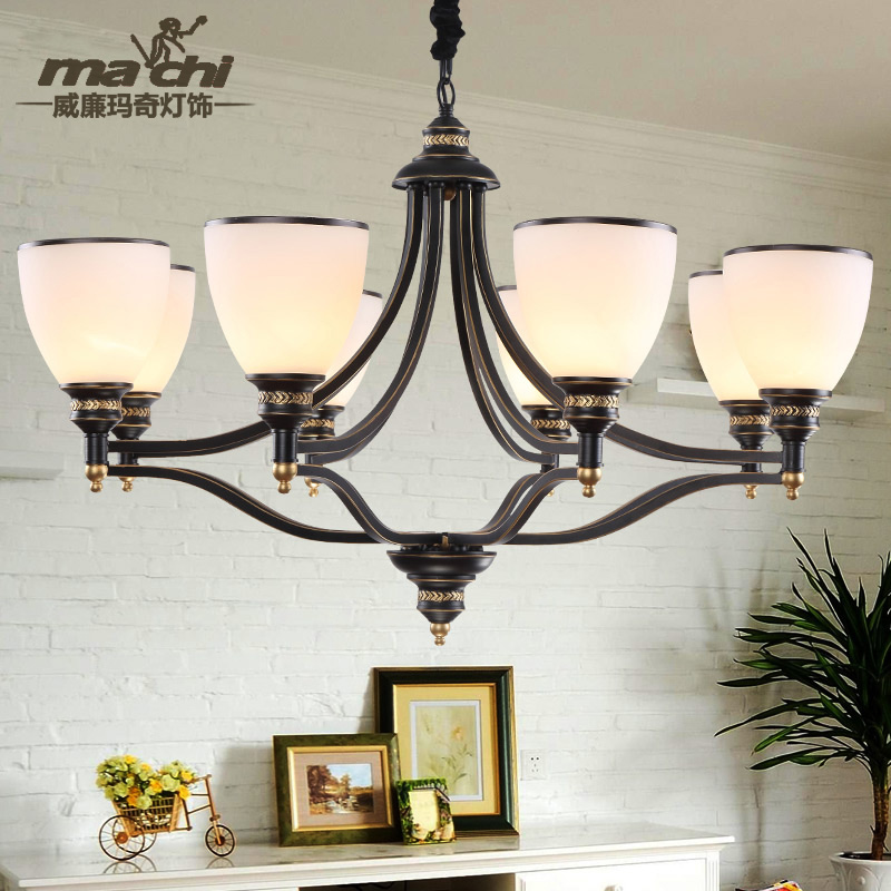 American country chandelier modern living room lights simple european continental led north european vintage wrought iron lamps bedroom restaurant lights