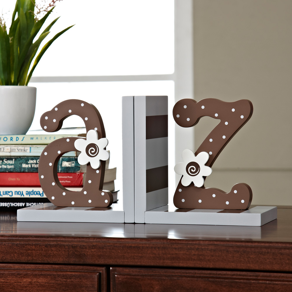 American country style alphabet small flowers home decoration creative bookends books books folder wooden living room children's room decorations