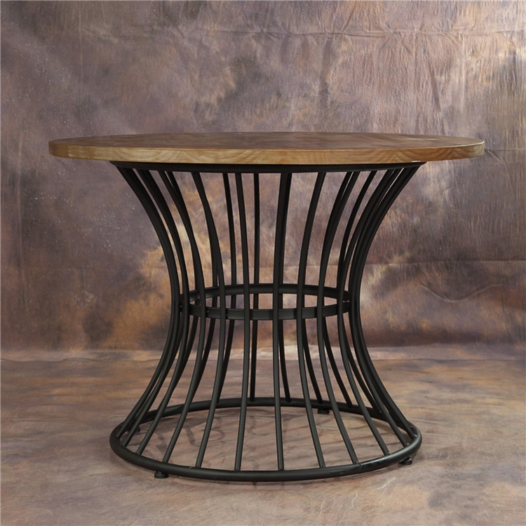 American country wrought iron wood retro large round table round dining table dining table to do the old retro bar table coffee table