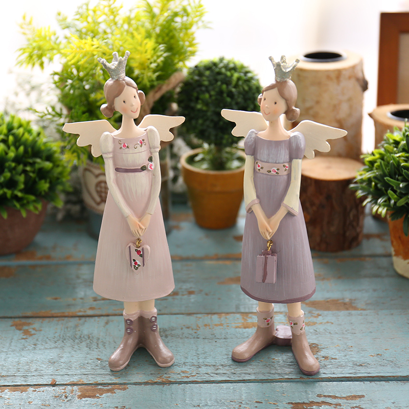 American creative living room window decoration resin crafts home decorations ornaments soft loading props angel female children