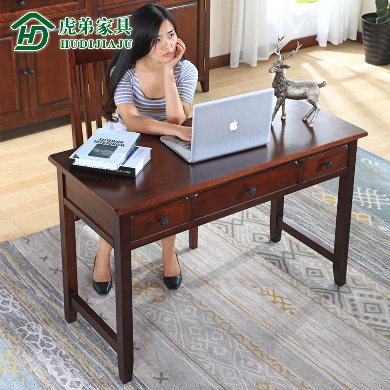 American imports of black walnut wood desk desk desk minimalist american country health waterborne paint furniture