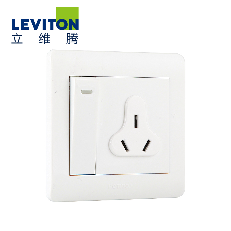 American leviton switch socket wall switch panel opened three holes multifunction boston series