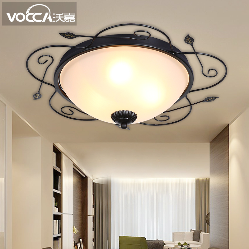 American minimalist modern living room bedroom dining room den round led ceiling lamp creative artistic personality porch lights