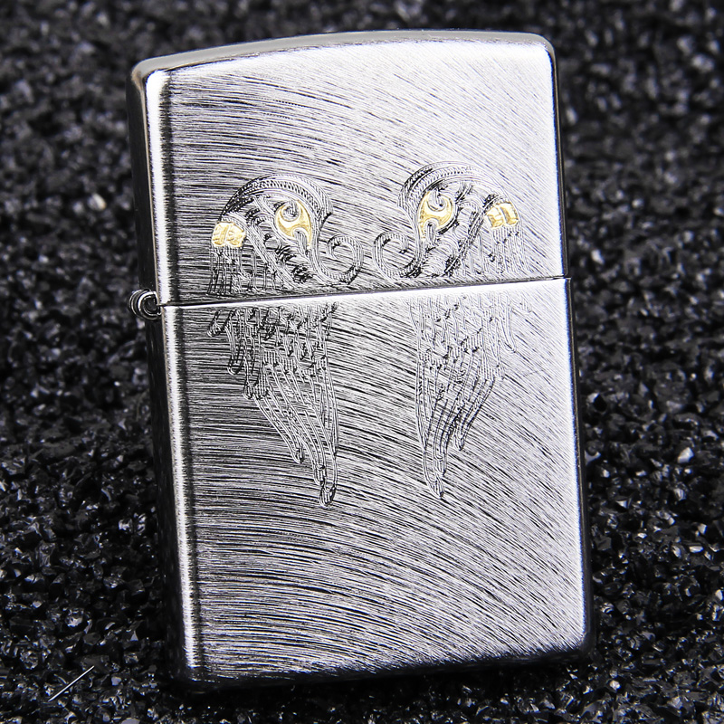 American original authentic zippo lighters zipoo genuine angel wings 29069 limited edition lettering men