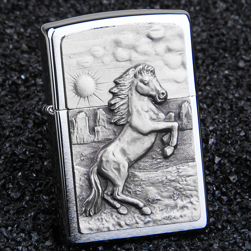 American original authentic zippo lighters zipoo genuine european version of the galloping horse limited edition lettering men's gift