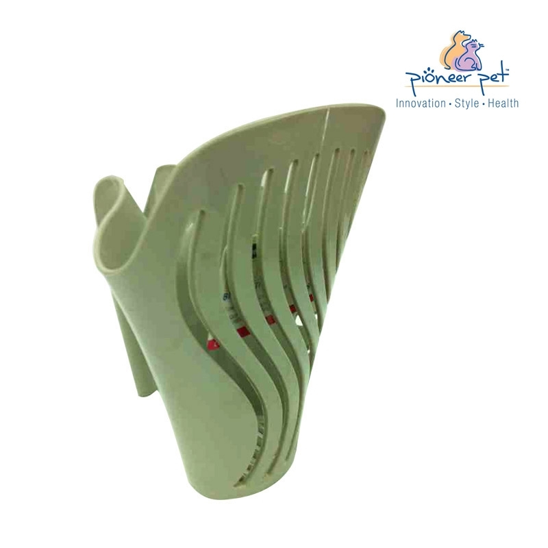 American pioneer pet alligator special plastic cat litter shovel blue/green with litter box