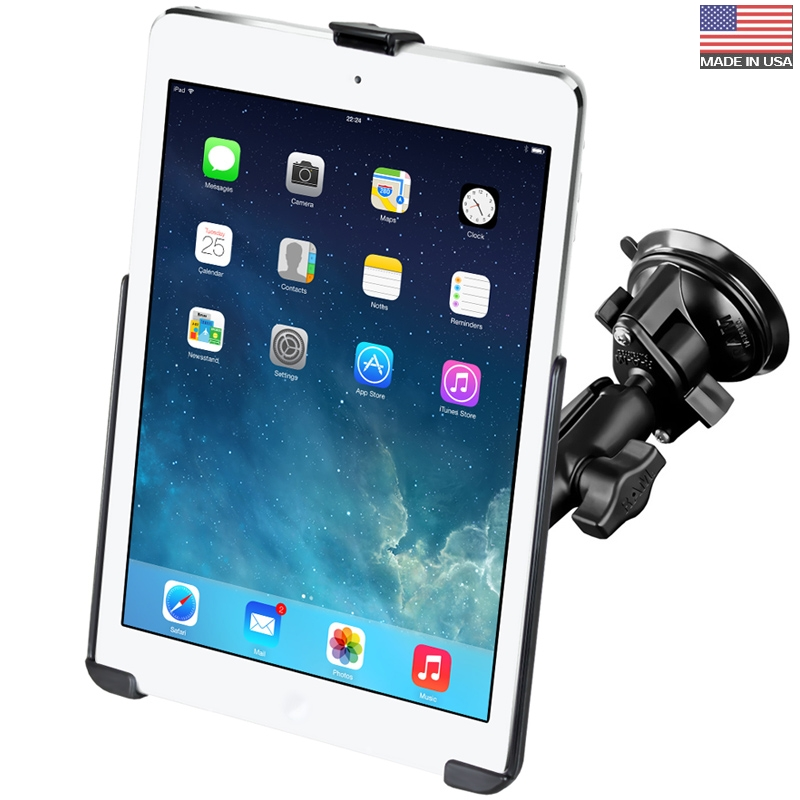 American ram bracket apple ipad air tablet computer special suction cup bracket car holder free shipping