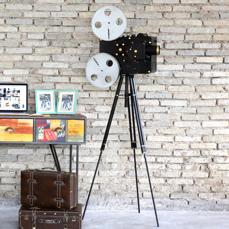 American retro nostalgia vintage movie projector large soft decorations ornaments bar window props floor furnishings