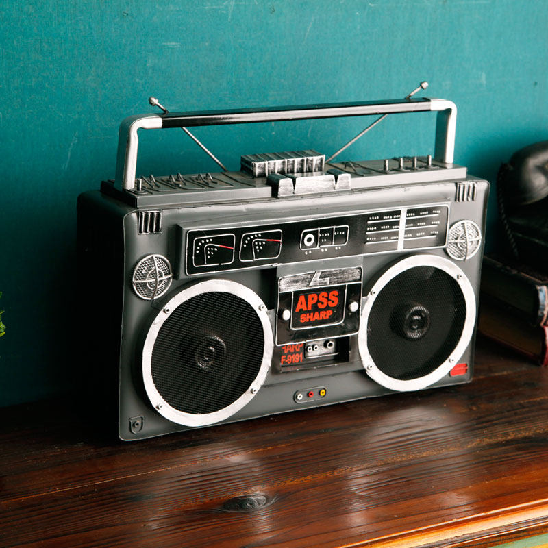 American retro radio model antique ornaments crafts furnishings creative studio window display photography props