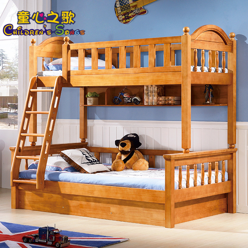 American solid wood bunk bed children's bed adult bunk bed bunk bed bunk bed with a combination of home girls boys