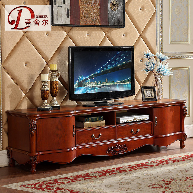 èèå°american tv cabinet wood cabinet continental 2.2 m of natural marble tv cabinet tv cabinet furniture 605
