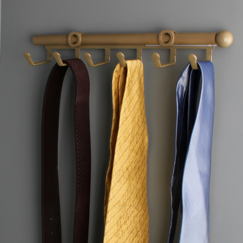 American venus cloakroom wardrobe inner row coat hooks mounted telescopic sliding peg hook tie belt rack