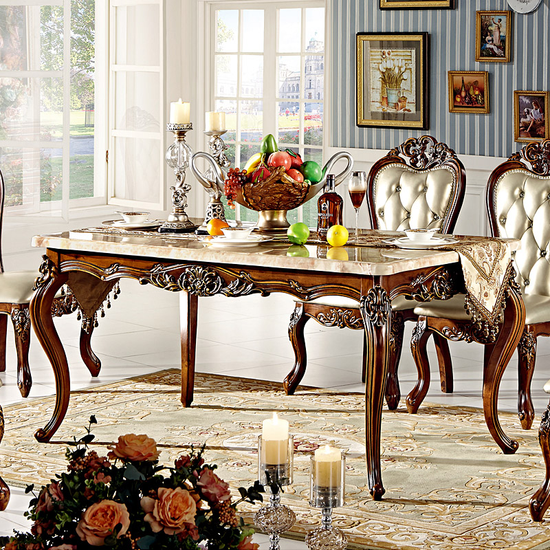 American wood dining table and chair combination of european marble dining tables and chairs carved rectangular dining table dining room furniture