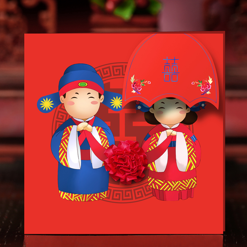 Amidst the collection has shown signs of 100个of creative wedding invitations red wedding invitations wedding invitations wedding supplies wedding invitations chinese style custom