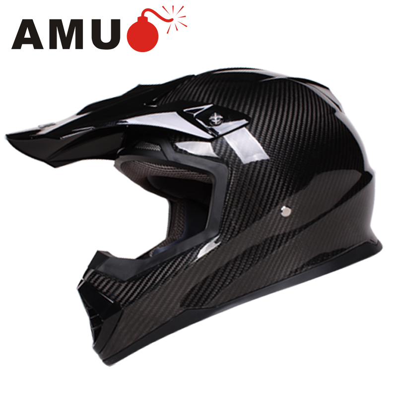 Amu motocross motorcycle helmet men four seasons full cover style summer motorcycle racing helmet full carbon fiber helmet run