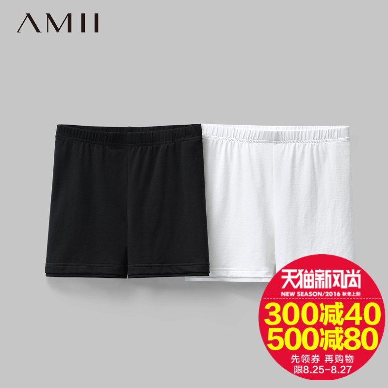 Amy amii minimalism 2016 summer new women wild stretch leggings pants shorts casual shorts anti emptied