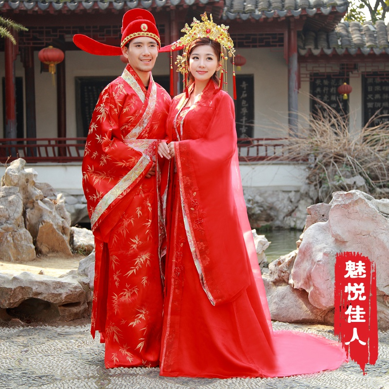 Ancient costume coronet xiapei upscale wedding dress costume chinese wedding dress the bride red wedding dress costume wedding dress hi