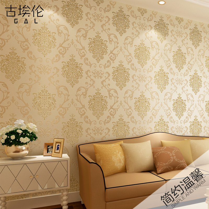 Ancient ellen euclidian wovens holy flower wallpaper wash thick stereoscopic 3d wallpaper bedroom living room tv backdrop