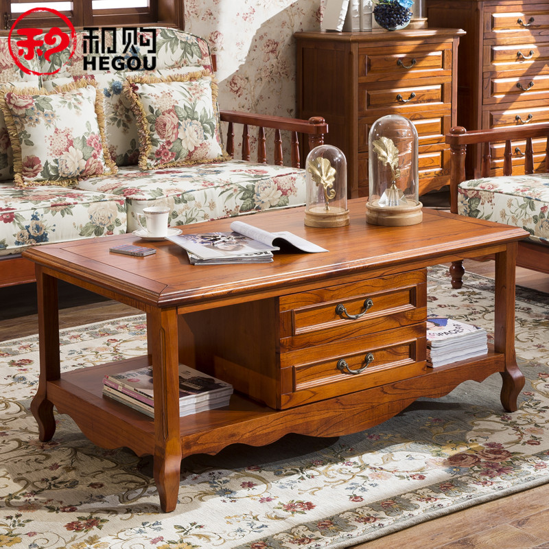And the purchase of furniture living room coffee table wood coffee table tea table tea table tea sets upscale coffee table american country retro minimalist cf-21