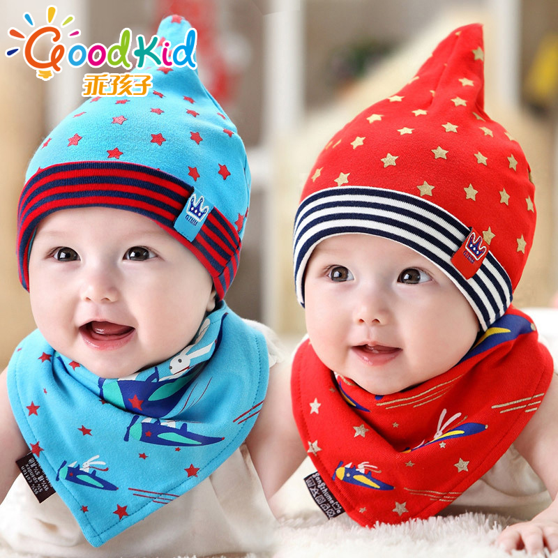 Angel baby cotton cap sleeve head cap spring and autumn cotton newborn baby hat for men and women bao bao bibs hat piece