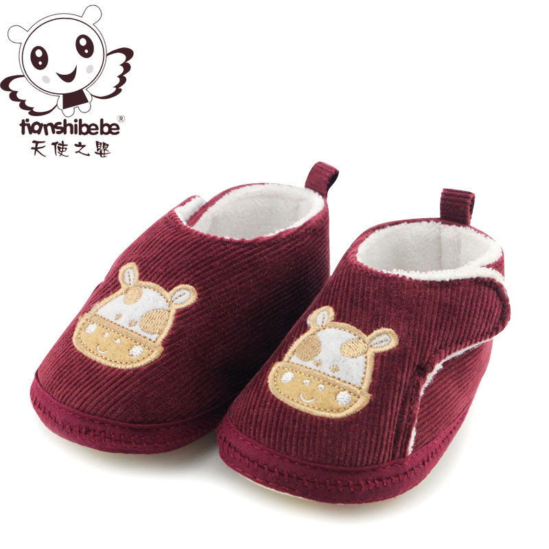 Angel infant girl baby shoes soft bottom step before baby shoes shoes spring models men's shoes loss prevention function shoes Autumn paragraph