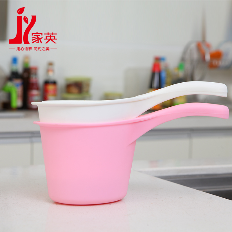 Anglo thick skillet large plastic spoon to scoop water bailer kitchen spoon to scoop water bailer thick round handle kitchen spoon to scoop water