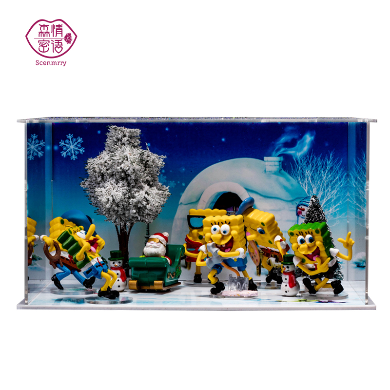 ... DISPLAYS · Anime Doll Christmas Scene Simulation Plants Micro Landscape  Diy Creative Lighting Field Of View Shipping