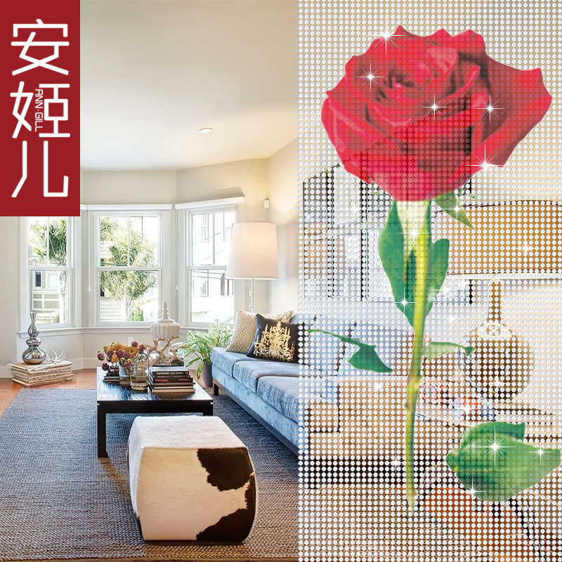 Ann ji children pattern living room painted crystal bead curtain partition composea crystal crystal bead curtain acrylic door