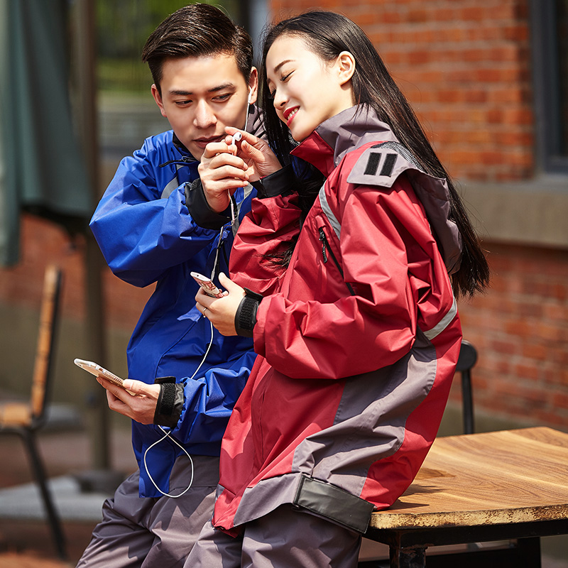 Ann riding single split riding raincoat raincoat rain pants suit motorcycle electric car raincoat raincoat poncho adult men and women