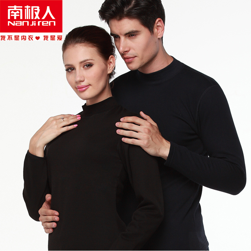 Antarctic high collar middle-aged men and ladies plus thick velvet ms. male knee warm clothing cotton sweaters suit