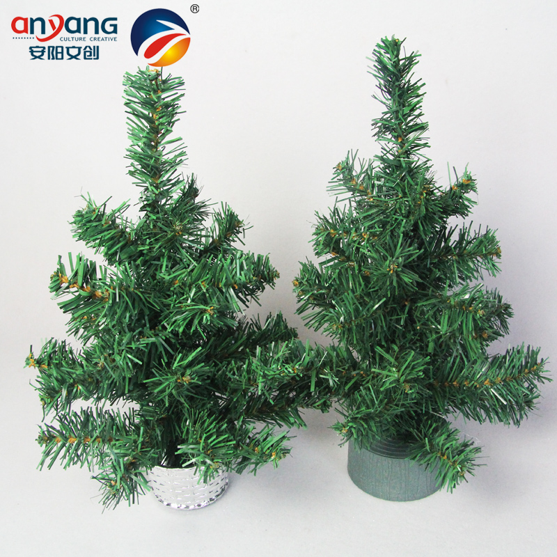 Anyang 30 cm mini christmas tree decoration encryption festive ornaments swing sets gift box 30 cm desktop tree