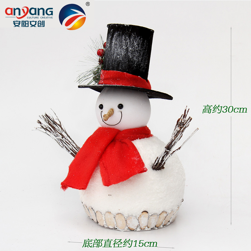 Anyang to celebrate christmas decoration gift objects tree ornaments scene layout 30cm wooden sticks stick foam snowman snow