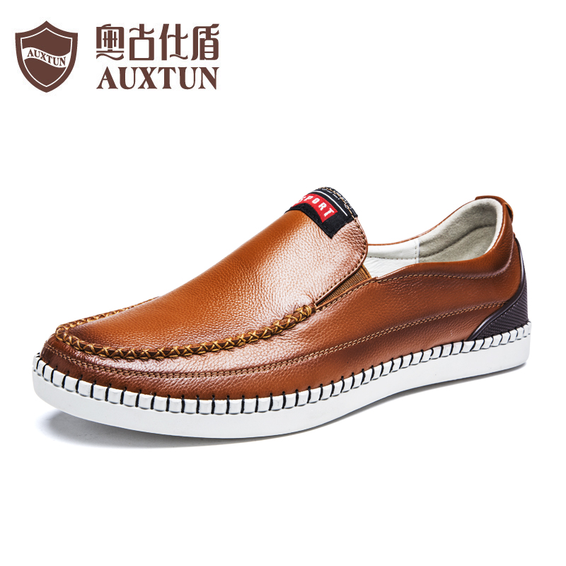 Ao gushi shield men's casual leather shoes to help low men's shoes england youth shoes tide shoes