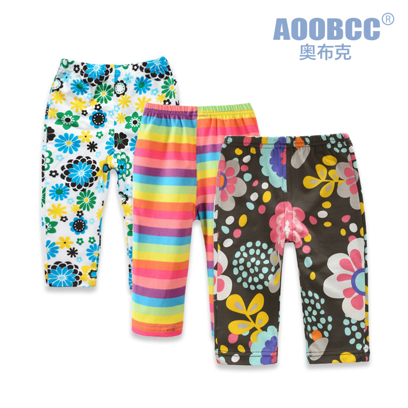 Aoobcc0-1 year old baby pants baby leggings pants color optional