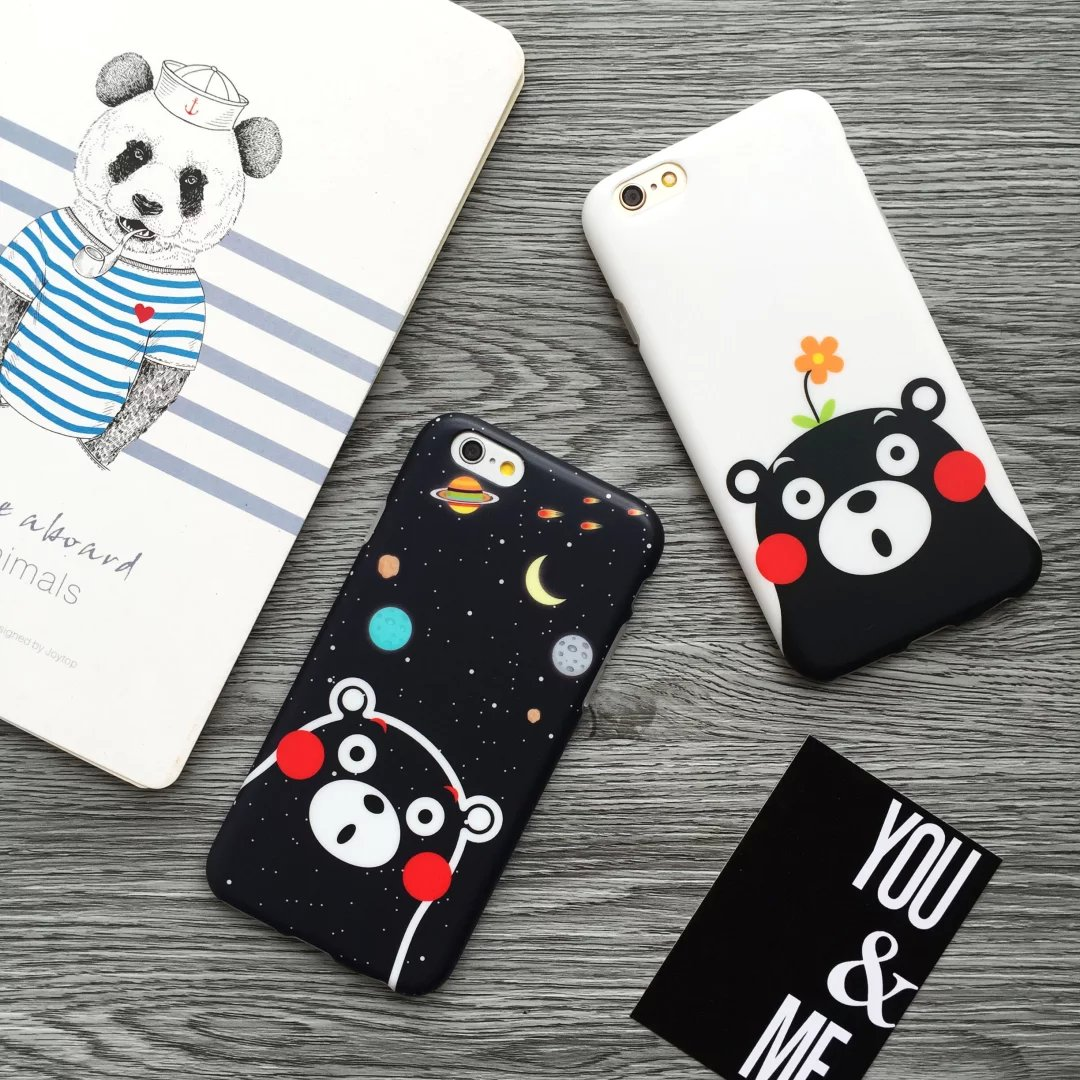 Apple 6 iphone6plus phone shell silicone cute cartoon kumamoto bear the whole package drop resistance 5.5 inch mobile phone sets