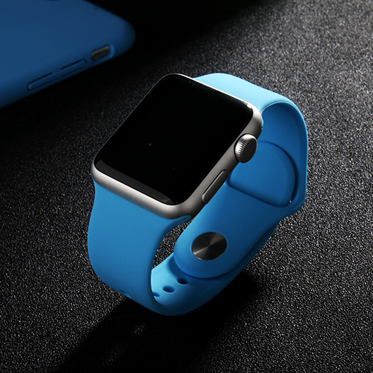 Apple apple watch sports watch sports watch with rubber strap silicone sports watch