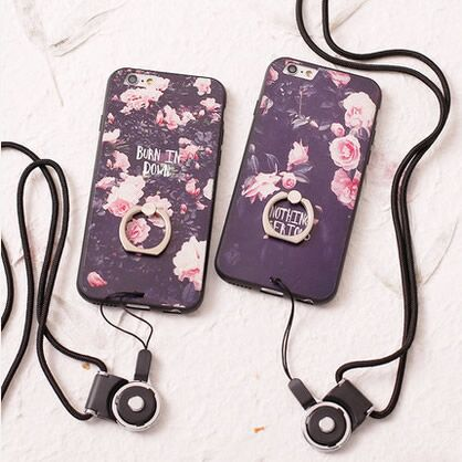 Apple s mobile phone bracket shell with lanyard plus protective shell the whole package of silica gel is intended to create personalized 4.7 protective sleeve korea