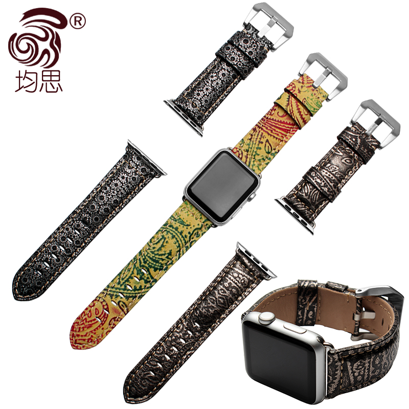Are thinking of apples imported the first layer of calfskin leather strap watch band watch apple 42mm