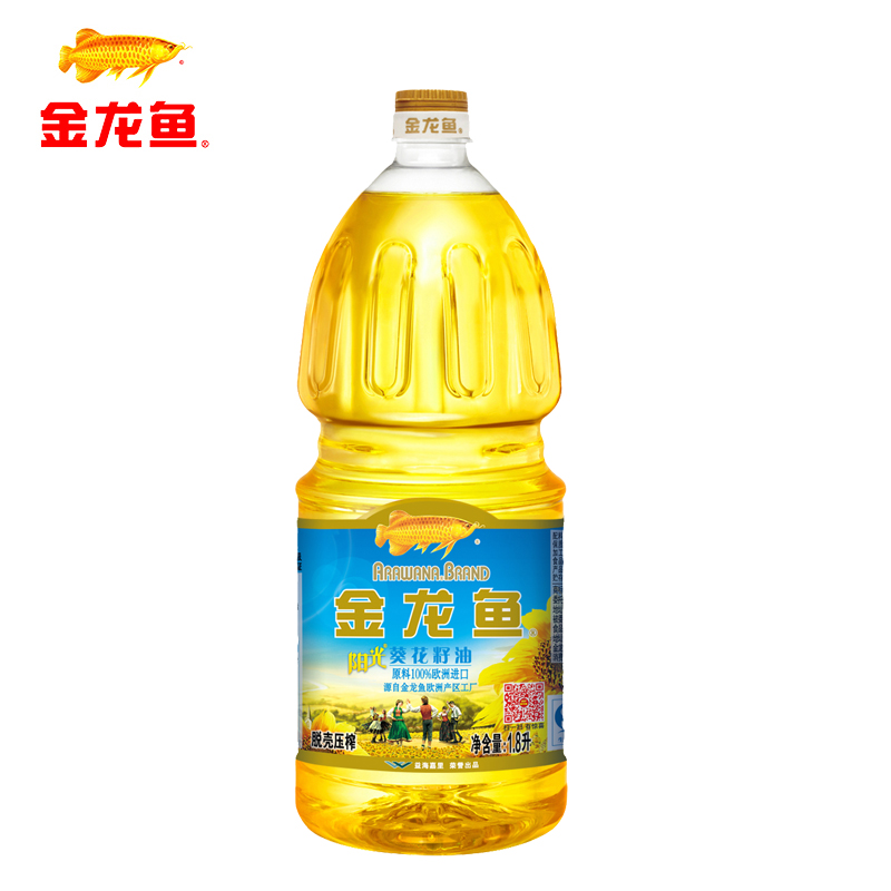 Arowana sun sunflower oil 1.8l/bottle, physical squeezing