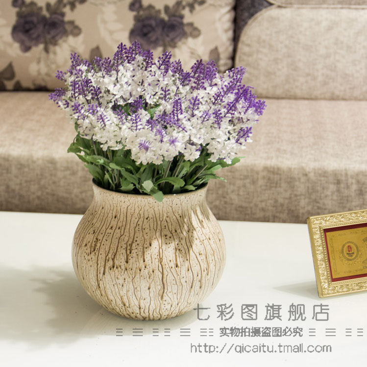 Artificial flowers artificial flowers dried lavender silk flower artificial flowers silk flower decoration floor floral silk flower