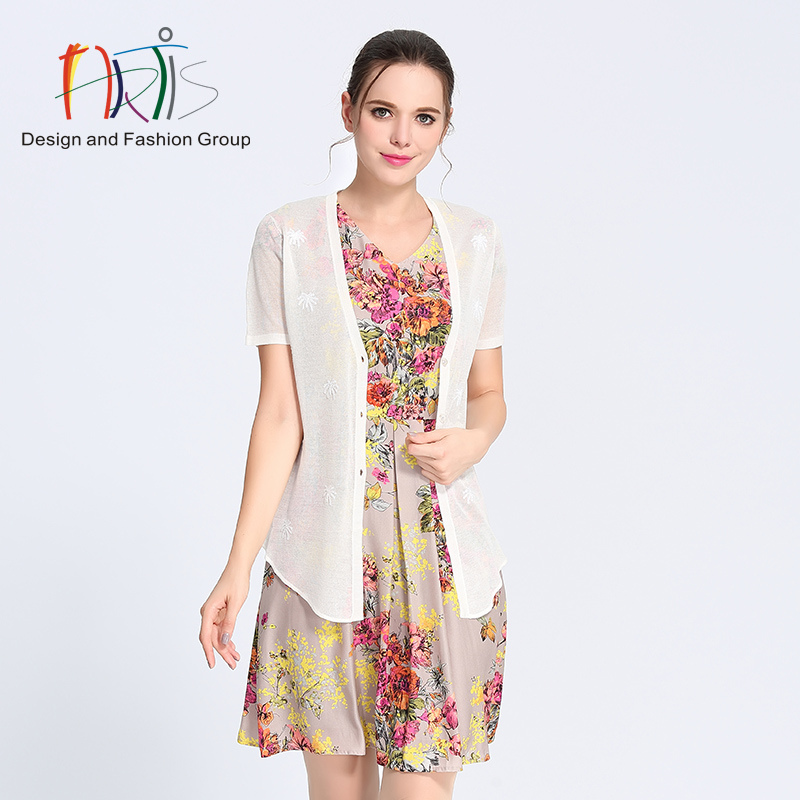 Artis artis ladieswear malls the same paragraph wild ivory white short sleeve cardigan 3822001-382147