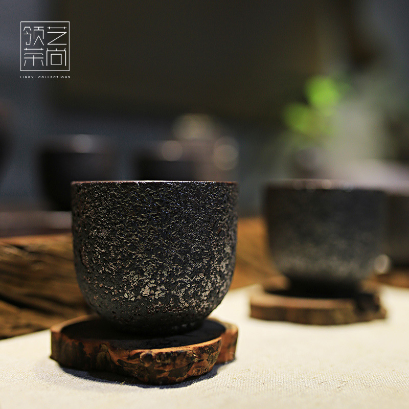 Arts collar cup single cup small cup individual owners cup rust glaze kung fu tea tea accessories