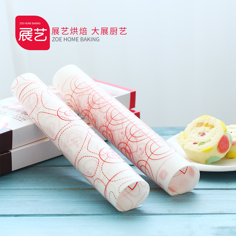 Arts exhibition baking mold impression painted cake roll swiss roll cake sided silicone mat mat mat painted