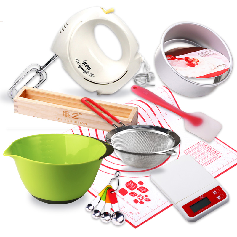 Arts exhibition baking mold suit novice baking tools package cake mold kitchen scales scraper bowl beat the egg spoon