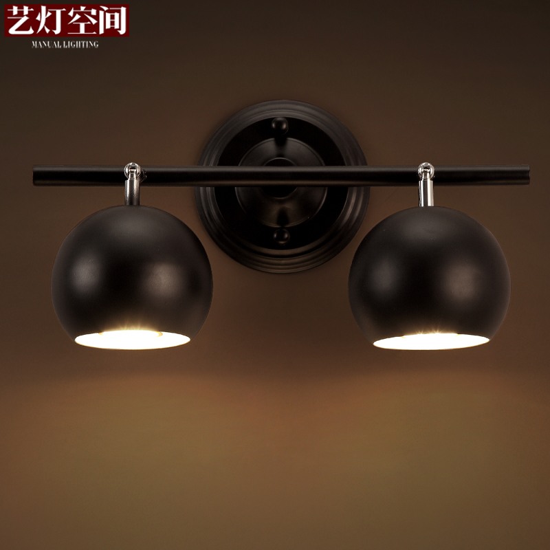 Arts lamp space modern minimalist aisle cafe nordic creative retro personality led mirror front lamps stud