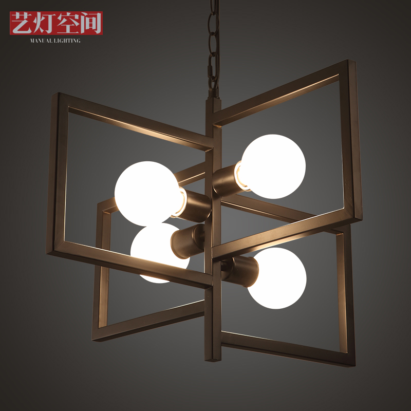 Arts lamp space personality wrought iron chandelier creative arts pastoral living room lights bedroom modern minimalist restaurant chandelier