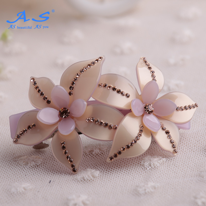 As jewelry diamond hairpin word folder cross clip ponytail clip hairpin spring clip hair accessories korean sweet diamond tiara