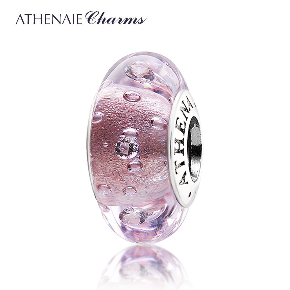 Athenaie cyparisseis italian glass glitter crystal swiss diamond diy handmade glass beads with bead transporter