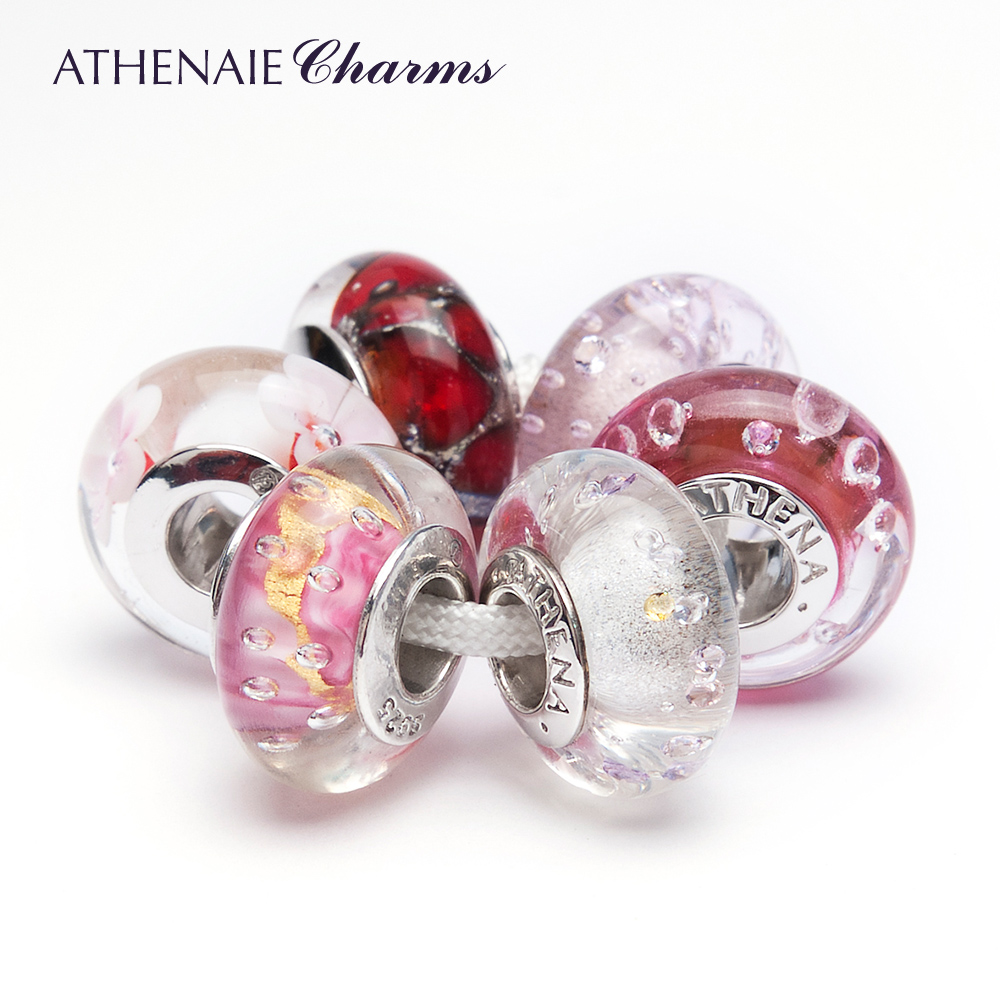 Athenaie designer models italian glass bright shiny combination diy glass loose beads to send his girlfriend a gift